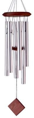 Woodstock Wind Chimes of Pluto (Encore Series) Silver