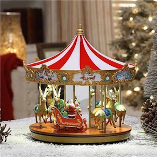 very merry carousel by mr christmas
