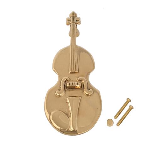 Brass Door Knocker Violin