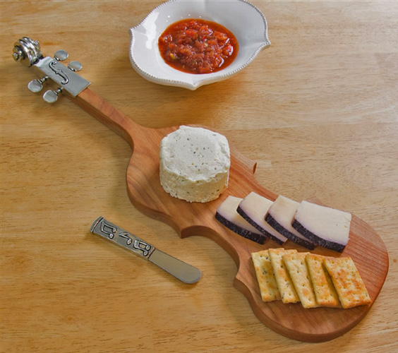 Violin Serving Board (in use)