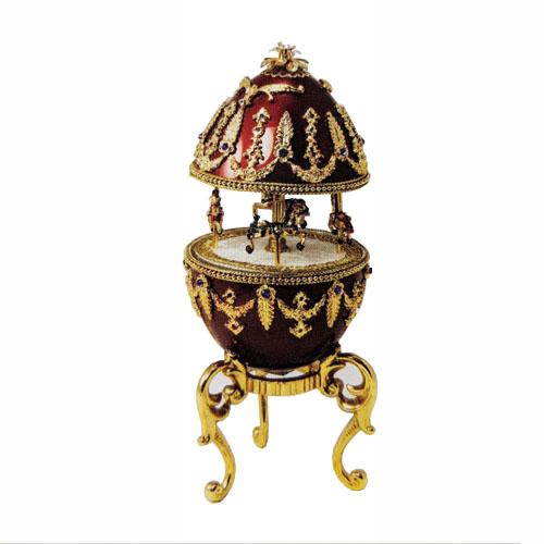 Musical Ornate Wonderous Carousel Goose Egg
