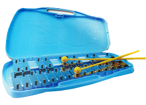 Xylophone with 25 notes in Blue plastic case.