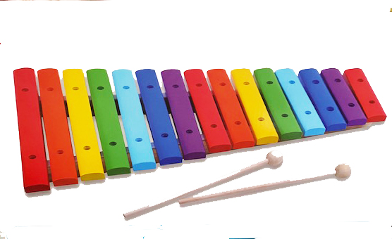 15 Note Color Coded Wooden Xylophone